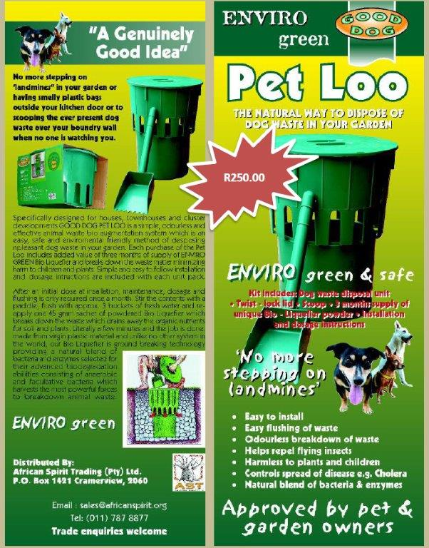 clean green dog loo instructions
